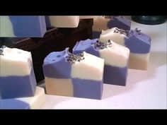 Making & Cutting Lavender CP Soap - YouTube