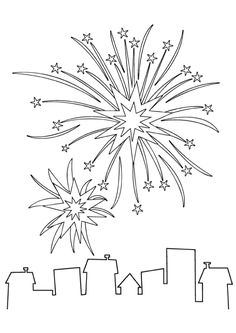 Fireworks Pictures with Chalk Markers | Fireworks pictures ...