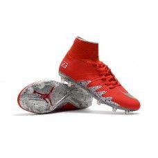 b64307627253 Nike Hypervenom Phantom II FG NJR Jordan Bright Crimson Metallic Silver  cheap football shoes Cheap
