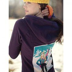 Neve Designs Georgie Retro Skier Full Zip Hoodie. Cute for ski chicks everywhere!