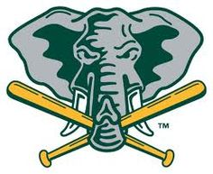 Oakland Athletics Alternate Logo on Chris Creamer's Sports Logos Page - SportsLogos. A virtual museum of sports logos, uniforms and historical items. Baseball Banner, Baseball Socks, Baseball Cards, Baseball Stuff, Baseball Teams, Mlb Teams, Sports Teams, Oakland Athletics, Elephant Logo