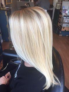 bright blonde balayage @Anna Katherine Harvey