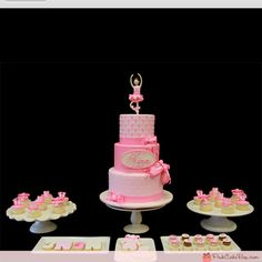 Dance cake and petit fours