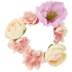 Pink Rose Flower Hair Garland (5.77 CHF) ❤ liked on Polyvore featuring accessories, hair accessories, hats, flowers, flower crowns, headband, floral garland, stretchy headbands, floral crown headband and pink headband
