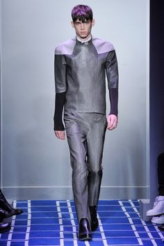 Click to open in a new window.  Balenciaga modular futurist mens look.