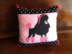Poodle pillow to match Poodle Quilt...