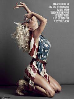 "Americana ""Red, White & Blue"" Kesha by Inez van Lamsweerde & Vinoodh Matadin for V Magazine 2012 Illuminati, Britney Spears, Kesha Quotes, Taylor Swift, American Flag Dress, Kesha Rose, V Magazine, American Women, Look Cool"