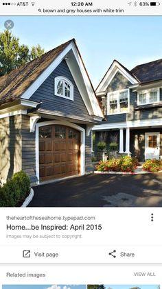 Navy Exterior Paint Color: U201cBenjamin Mooreu0027s Evening Dove DeGraw U0026 DeHaan  Architect. Paint The Garage Door