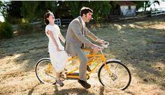 Ride a tandem bike