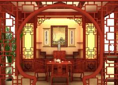 Chic Asian Home Decor With Nice Design For Impressive Look : Get Attractive Red Interior Look with Chinese Style Home Decor