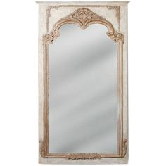 Antoinette Foyer Mirror (2,910 CAD) ❤ liked on Polyvore featuring home, home decor, mirrors, trumeau mirror, french mirror, yellow mirror, french trumeau mirror and french home decor