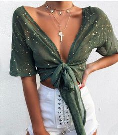 Chic Womens Summer Tops and Blouses 2018 Sequined Bling Bling Crop Top Shirts Wo. Chic Womens Summer Tops and Blouses 2018 Sequined Bling Bling Crop Top Shirts Wo. Mode Outfits, Trendy Outfits, Fashion Outfits, Womens Fashion, Dress Fashion, Fashion Ideas, Fashion Belts, Ladies Fashion, Fashion Clothes