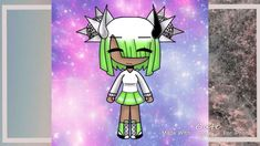 (I'm bad at front facing Gacha characters ; Girl Face Drawing, Life Drawing, Life Comics, Cartoon Art Styles, Disney Dogs, Cool Lyrics, Anime Girl Cute, Cute Chibi, Anime Outfits