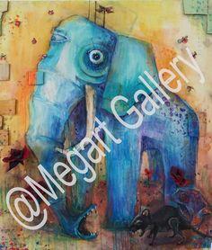 ΚΑΛΛΙΤΕΧΝΗΣ: ΧΡΗΣΤΑΚΟΥ ΧΑΡΑ,88x92cm,ΜΕΙΚΤΗ ΤΕΧΝΙΚΗ ΔΕΚΑΤΗ ΘΕΣΗ ΣΤΟΝ ΔΙΑΓΩΝΙΣΜΟ TIMH:1200,00 € Blue Artwork, Shades Of Blue, Artworks, Elephant, Painting, Painting Art, Elephants, Paintings, Painted Canvas