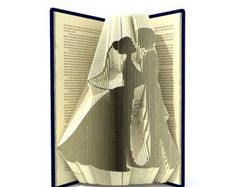 Book folding pattern  WEDDING COUPLE in HEART  227 folds