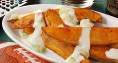 Buffalo potato wedges | 77 Magical Ways To Eat Potatoes On Saint Patrick's Day