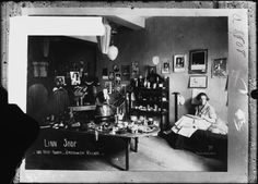 Linn Shop, 181 West Fourth, Greenwich Village. c. 1910s - 1920s. Interior view of the Linn Shop.