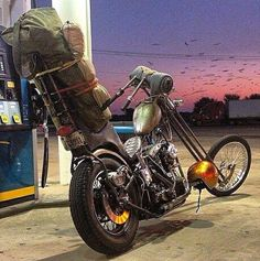 Gassing up of course, look at that tank....