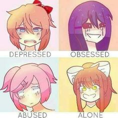 DDLC | I'm definately all of these except I'm not obsessed..