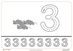 Free handwriting pages for writing numbers Free Handwriting, Writing Numbers, Tot School, Math For Kids, Learn English, Kids Learning, Worksheets, Coloring Pages, Origami