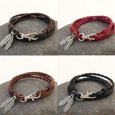 1 x Fashion Men's Bracelet. Material:PU Leather Alloy. Style:Fashion Bracelet. hope you could understand. About Me. Color:Black, Coffee, Red,Black Coffee. | eBay!