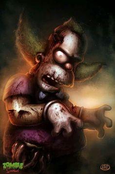 zombie simpsons, krusty the clown, dan osborne Más Krusty Der Clown, Martin Solveig, Evil Dead, Es Der Clown, Zombie Art, Creepy Clown, Creepy Art, Evil Clowns, Art Anime