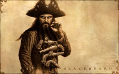 6 most famous Pirates in history - On this image: The Blackbeard - #pirates #history