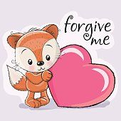 Fox com coração