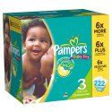Pampers Baby Dry Diapers Economy Plus Pack Size 3, 222 Count