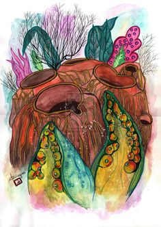 Sea barnacles by m0onwitch.deviantart.com on @DeviantArt
