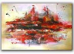 BURGSTALLER Malerei Acrylbild Abstrakt Kunst Original Bild Modern Gemälde VULKAN http://www.burgstallers-art.de/online-shop/abstrakte-kunst/