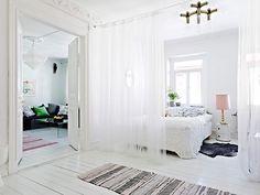 sheer curtains around my bed? hmm.