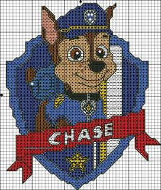 Paw patrol plastic canvas patterns toys figures clothes skye birthday gifts everest toy marshall zuma vehicles games ideas chase truck tracker new slippers rocky pajamas racers rubble ryder sale de… Cross Stitch For Kids, Cross Stitch Baby, Cross Stitch Charts, Cross Stitch Designs, Cross Stitch Patterns, Crochet Pixel, Crochet Cross, Cross Stitching, Cross Stitch Embroidery