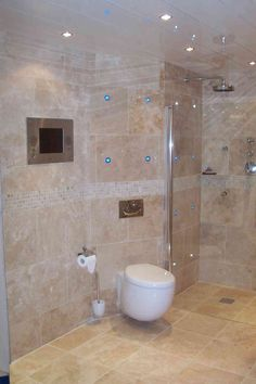 New Post natural stone tile bathroom