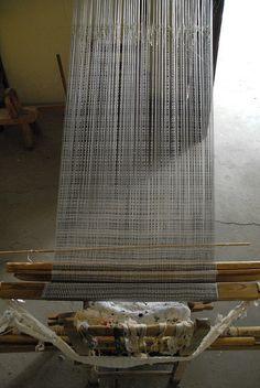 Ikat Rebozo on Loom Mexico by Teyacapan, via Flickr