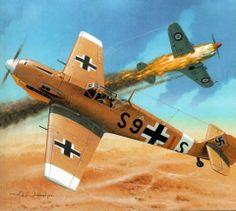 Messerschmitt Bf-109E-7B vs P-40 by Arkadiusz Wróbel Luftwaffe over El-Alamein