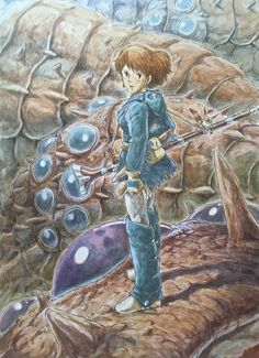 Illustrations done for the Nausicaa manga ===== Manga began running in monthly 'Animage' in Feb. 1982, collected in order of appearance ===== Notes: This has nothing to do with the story & was very hard to draw.