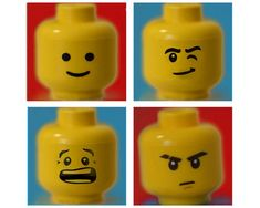 Lego Print Set 4 prints lego minifigure yellow red 8x10 boy
