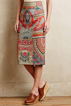 Capivara Pencil Skirt from Anthropologie