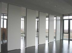 Sliding soundproof wall divider panels