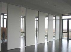 Sliding soundproof wall divider panels