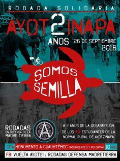Rol bicicletero solidario a 2 años de la desaparición de los 43 estudiantes de Ayotzinapa
