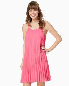 charming charlie | Rachel Pleated Trapeze Dress | UPC: 100214524 #charmingcharlie