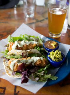 best fish tacos EVER // Dolphin Restaurant // Hanalei, Kauai, Hawaii