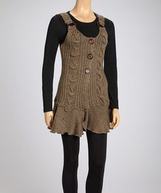 This Taupe Wool-Blend Sleeveless Tunic by JohnFashion is perfect! #zulilyfinds