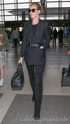 Rosie Huntington-Whiteley Defies The Cold In The Perfect Waist Cinching Jacket