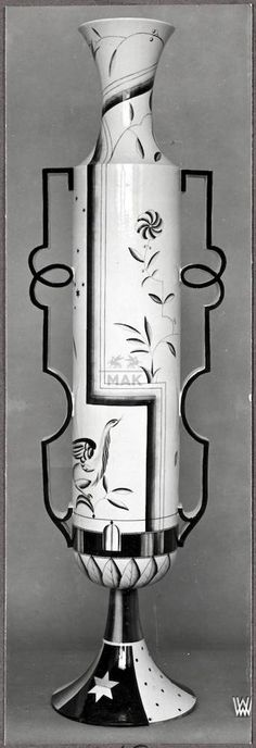 """** Peche, Dagobert / Wiener Werkstätte, """"Hohe Vase"""", 1923"""