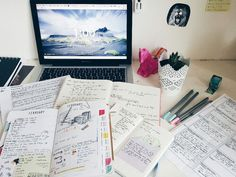 study, motivation, and note image