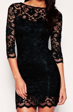 I've wanted a three-quarter sleeve black lace dress for a long time. Next time I see one, I need to buy it.