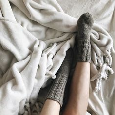Cold nights, warm blankets, soft pillows & cozy socks 🌷💛✨ #perfectmatch